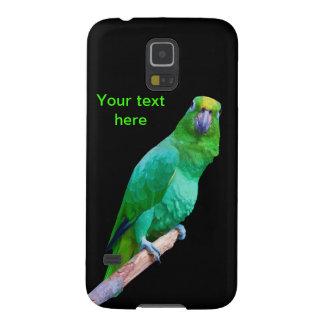 Loro verde del Macaw en un personalizable del miem Fundas Para Galaxy S5