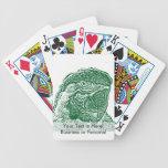 loro verde gráfico del esquema de la opinión princ baraja cartas de poker