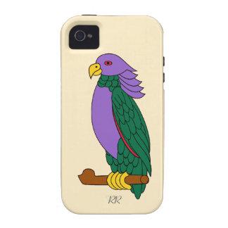 Loro verde púrpura iPhone 4/4S funda
