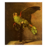 Loro verde, Vincent van Gogh, todavía del vintage  Poster