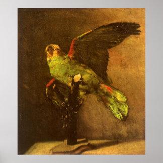 Loro verde, Vincent van Gogh, todavía del vintage Póster