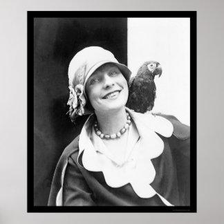 Loro y señora feliz 1924 posters