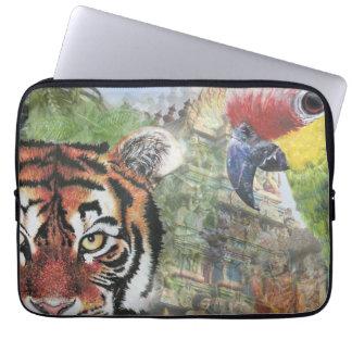 Loro y tigre caja del ordenador portátil de 13 pul funda portátil