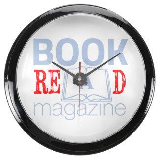 L'orologio da muro di Book Re(a)d Magazine Aqua Clocks