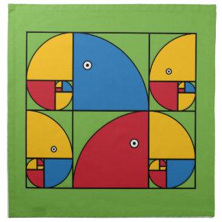 Loros de Fibonacci Servilletas Imprimidas