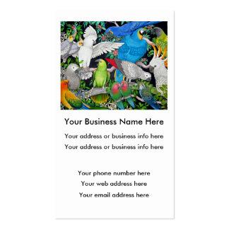 Loros de la tarjeta del comercio mundial tarjetas de visita