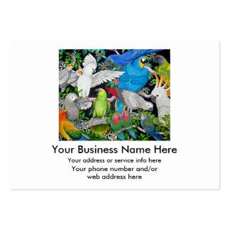 Loros de la tarjeta del comercio mundial tarjetas de visita grandes