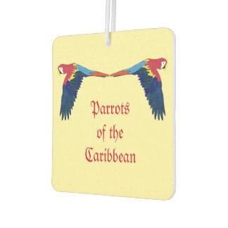 Loros del amarillo del Caribe