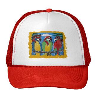 Loros del fiesta del pirata gorra