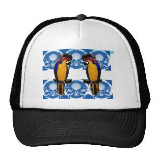 Loros del pirata gorras de camionero