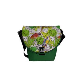 Loros tropicales bolsas de mensajería