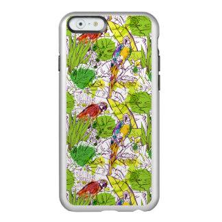 Loros tropicales funda para iPhone 6 plus incipio feather shine