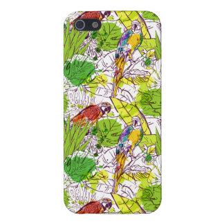 Loros tropicales iPhone 5 carcasa