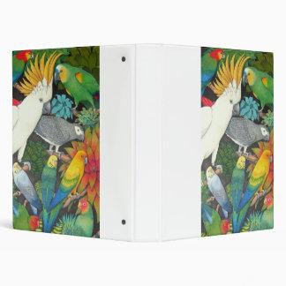 Loros y carpeta de Bromeliads Avery