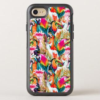 Loros y hojas de palma funda OtterBox symmetry para iPhone 7