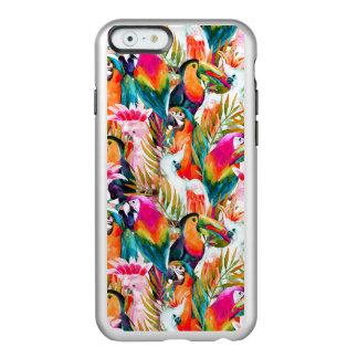 Loros y hojas de palma funda para iPhone 6 plus incipio feather shine