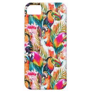 Loros y hojas de palma funda para iPhone SE/5/5s