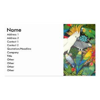 Loros y tarjeta del perfil de Bromeliads Tarjetas De Visita