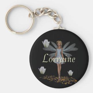 Lorraine Custom Named Fairy Keyring Keychain