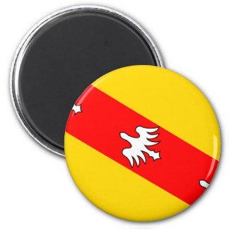 Lorraine, France flag 2 Inch Round Magnet