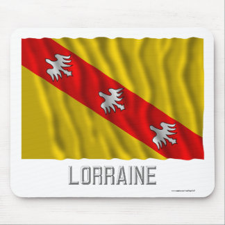 Lorraine waving flag with name mouse pads