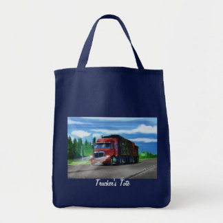 Lorry Driver Big Rig Heavy Trucker Art Bag
