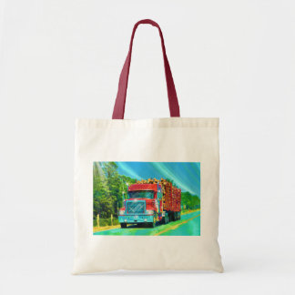 Lorry Driver Big Rig Heavy Trucker Art Tote Bag