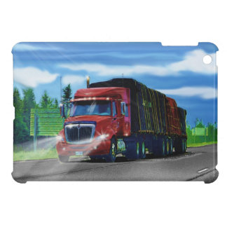 Lorry Drivers Big Rig Red Cargo Truck iPad Case