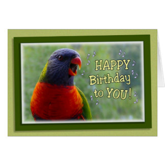 birds singing happy birthday greeting cards  zazzle, Birthday card