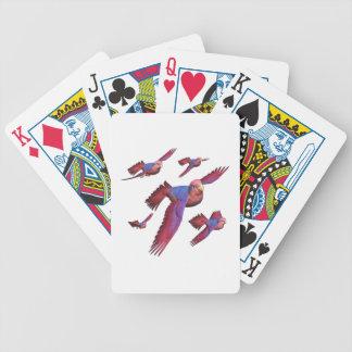 Lorys rojo y azul baraja de cartas bicycle