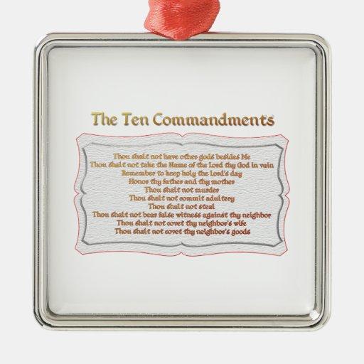Los 10 mandamientos ornatos