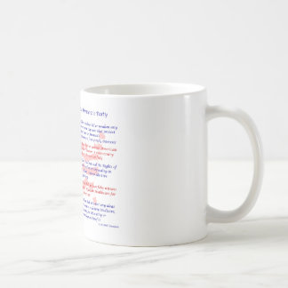 Los 10 mandamientos del fiesta Democratic Tazas De Café