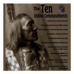 Los 10 mandamientos indios posters