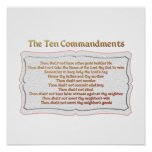 Los 10 mandamientos póster