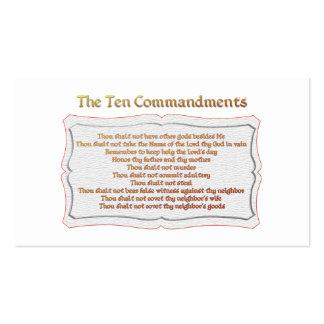 Los 10 mandamientos plantillas de tarjeta de negocio