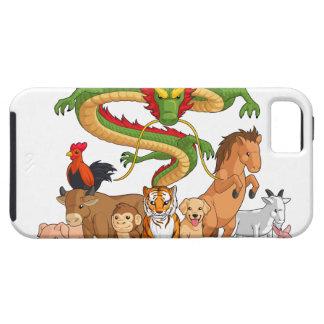 Los 12 animales chinos del zodiaco junto funda para iPhone SE/5/5s