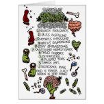 Los 12 días de navidad del zombi felicitación
