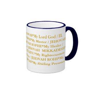 Los 12 nombres de dios taza de dos colores