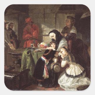 Los 1753-93) finales de Marie-Antonieta (adiós a Calcomanía Cuadradas Personalizadas