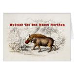Los 1800s del vintage el rojo sospechó los cerdos tarjeta pequeña