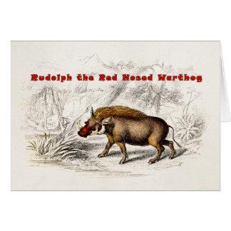 Los 1800s Rudolph del vintage el rojo sospechó los Felicitaciones
