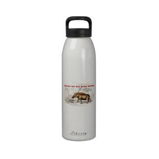 Los 1800s Rudolph del vintage el rojo sospechó War Botella De Agua Reutilizable