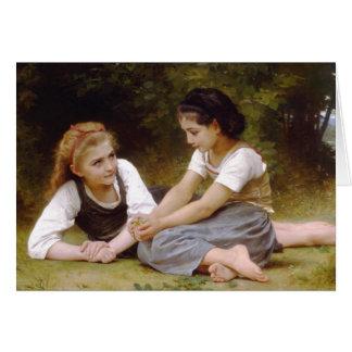 Los 1882 de Bouguereau los noisettes de Les de los Tarjeta De Felicitación