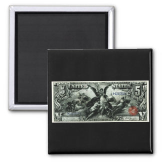 Los 1896 E.E.U.U. certificado de plata de cinco dó Imanes