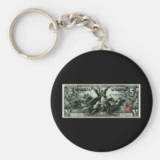 Los 1896 E.E.U.U. certificado de plata de cinco dó Llavero Personalizado