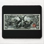 Los 1896 E.E.U.U. certificado de plata de cinco dó Alfombrilla De Ratón