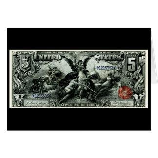 Los 1896 E.E.U.U. certificado de plata de cinco dó Tarjeta