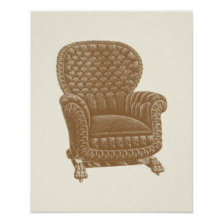 Los 1900s de la silla de Brown del eje de balancín Impresiones