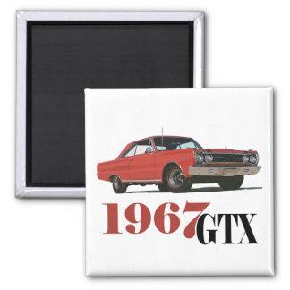 LOS 1967 GTX ROJOS IMÁN CUADRADO