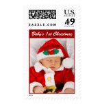 Los 1ros sellos de la foto del navidad de Babys di